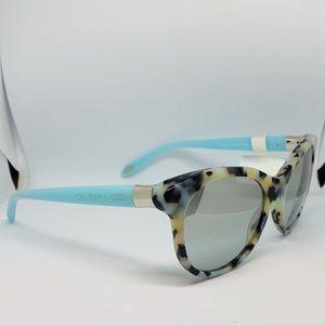 NWT Tiffany & Co. 4125  Beige Havana Sunglasses